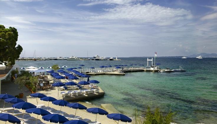 Restaurant & Bar : Restaurant Plage Belles Rives - Hotel Belles Rives : Antibes, Juan les Pins