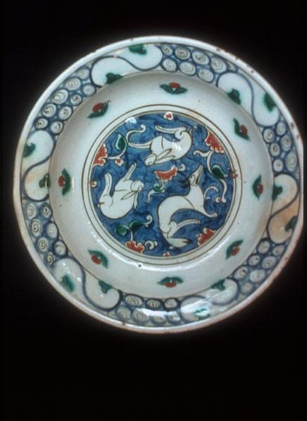 Art, Islamic Iznik pottery -- 16th century -- Turkey Plates (Tableware) Animals