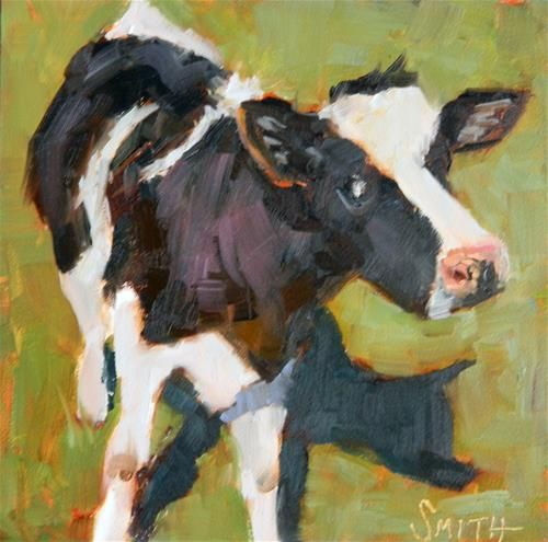 """Daily Paintworks - """"Me and My Shadow"""" - Original Fine Art for Sale - © Barbie Smith"""