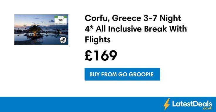 Corfu, Greece 3-7 Night 4* All Inclusive Break With Flights, £169 at Go Groopie