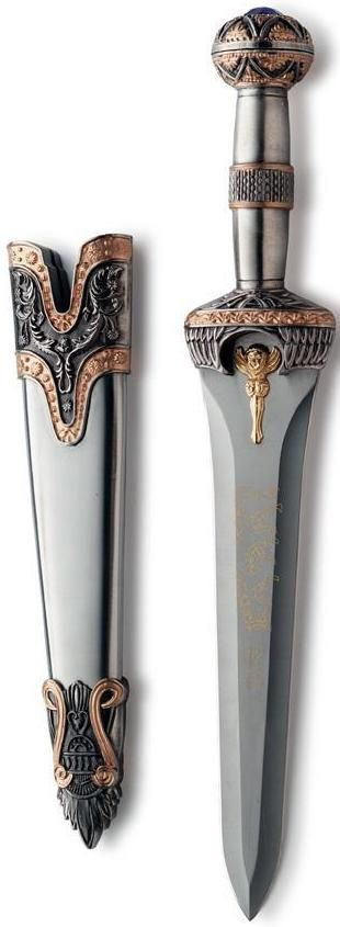 Imperial Roman Gladiator Dagger with decorated scabbard