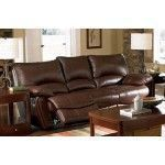 $987.00  Coaster Furniture - Clifford Double Reclining Sofa in Brown Leather - C600281 #coasterfurniturecouch #RecliningSofa