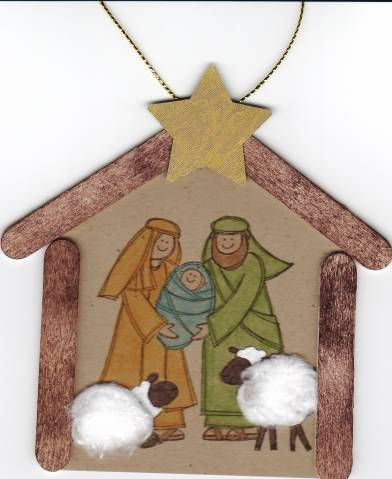 Baby Jesus Is Born ornament