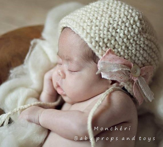 Wool bonnet  baby props by pavlucha on Etsy