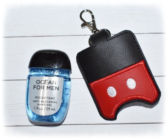 Mouse Hand Sanitizer Holder Pocketbac Holder Red Sanitizer Key
