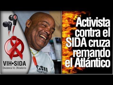 Activista contra el sida cruza remando el Atlántico