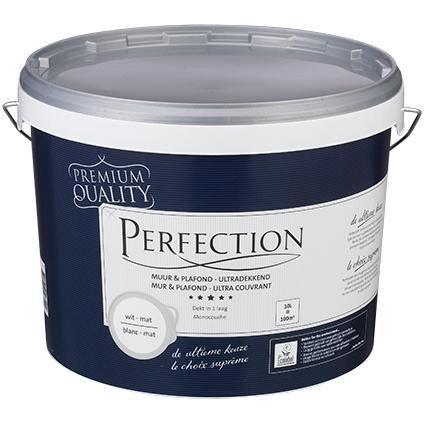 Perfection latex Muur & Plafond mat RAL 9010 10L