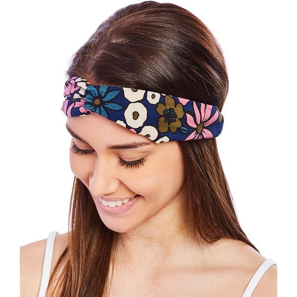 Karma Kreations Pink Floral Front-Twist Headband (455 INR) ❤ liked on Polyvore featuring accessories, hair accessories, twisted headband, hair band headband, headband hair accessories, twisted headwrap and hair band accessories