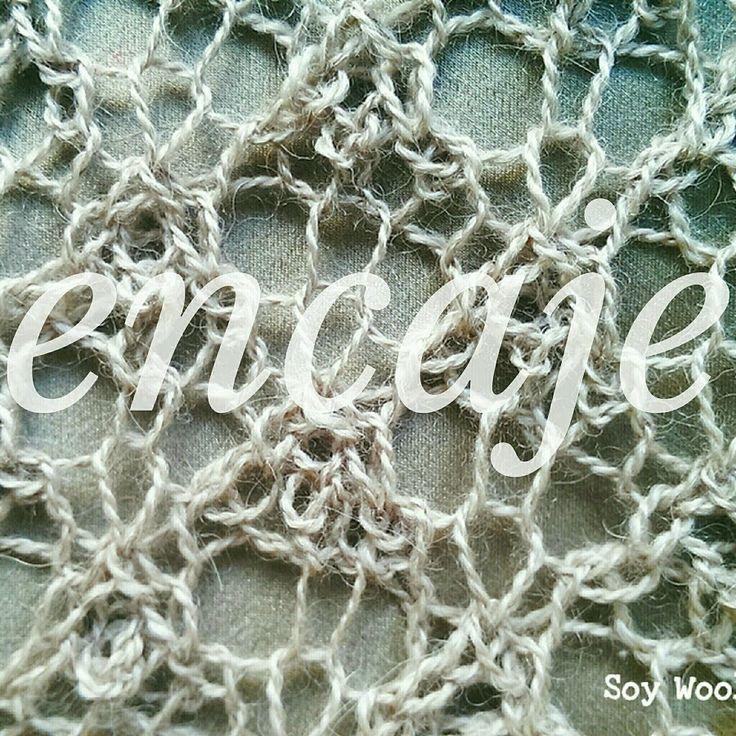 Aprende a tejer Encaje Inglés con dos agujas, palillos, palitos, punto, tricot, calceta. Un punto calado diferente y muy romántico! http://www.soywoolly.com/...