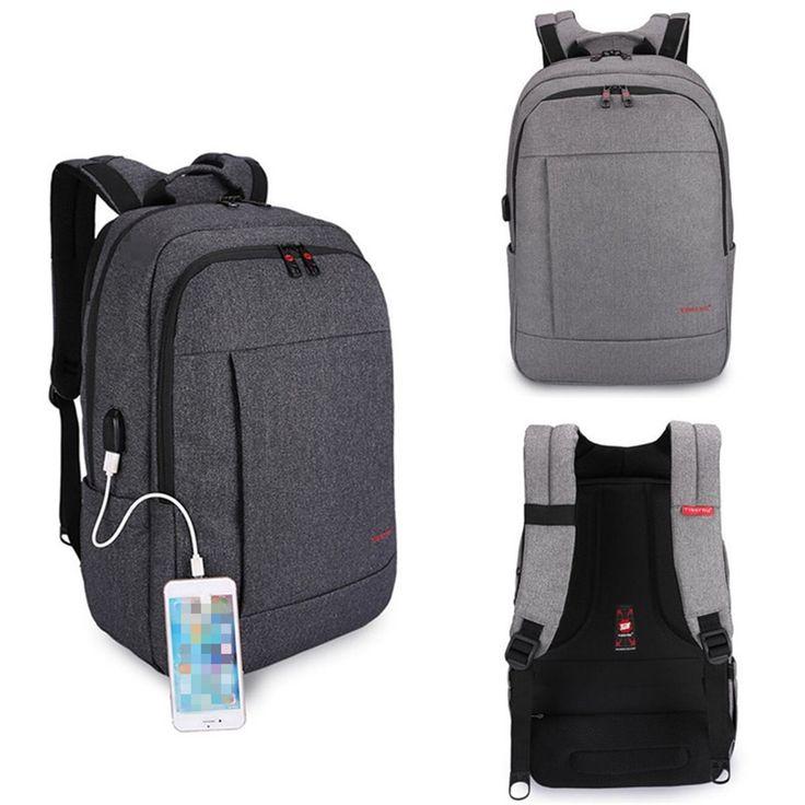 Tigernu Fashion Anti Theft USB Charging Men Women Laptop Bag Backpack School Travel Bags
