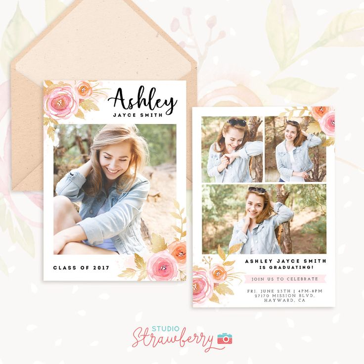 Senior Graduation Template, Graduation Invitation Template, Senior Photography Marketing, Graduation Announcement, Graduation Templates by StudioStrawberry on Etsy https://www.etsy.com/listing/506905324/senior-graduation-template-graduation