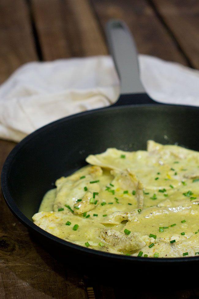 Pechugas de pollo con leche de coco y curry korma receta