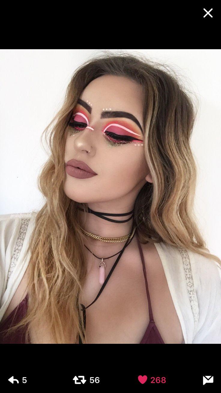 rave ready makeup