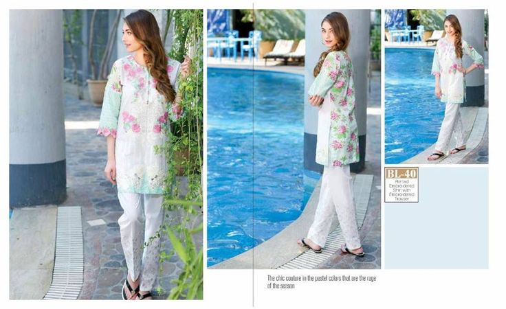 #Womens #Fashion #Pakistani #Designer #Suits #Haute #Couture for #work - #Green #Shirt #Pink #Bottom #Embroidered #premium #lawn #Kurtis