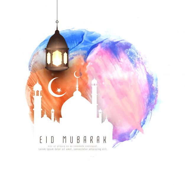 Download Abstract Eid Mubarak Watercolor Background Illustration For Free Eid Images Eid Ul Adha Images Eid Mubarak Images