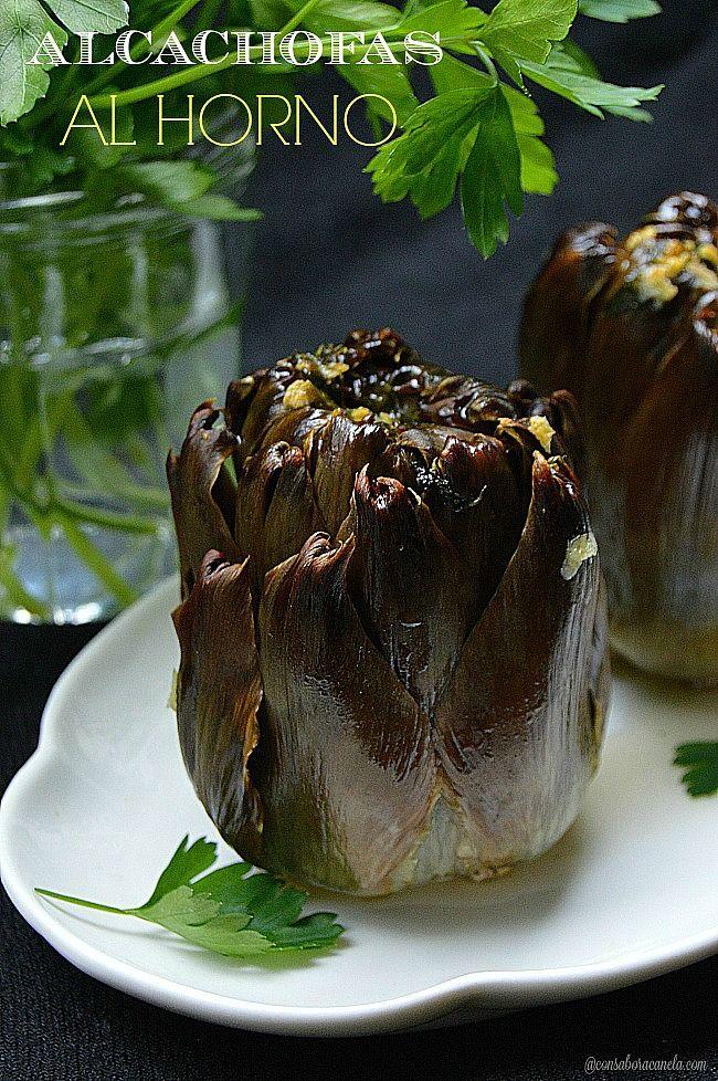 Con sabor a canela: Alcachofas al horno/con receta.