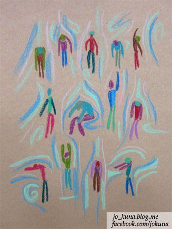 <현대무용, Modern dance, oil pastel, 2014>