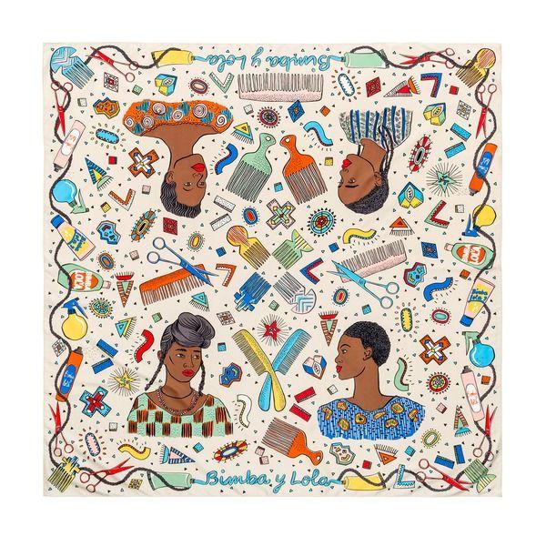 www.cewax.fr aime la nouvelle collection Bimba Y Lola - Ethnic accessories beige scarf