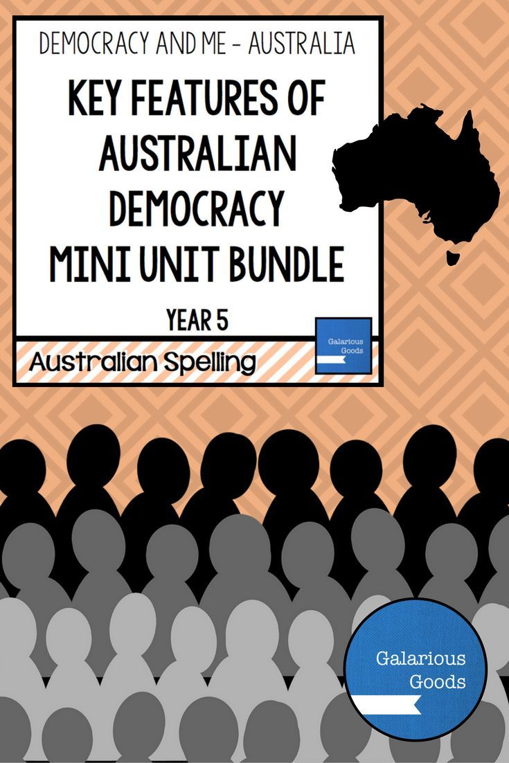 Three mini units looking at types of government, features of Australian democracy and why it is important to vote