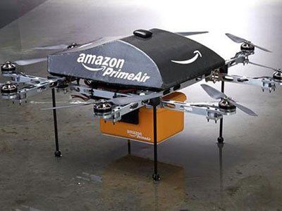 Amazon's  Prime Air delivery drone tests in UK market