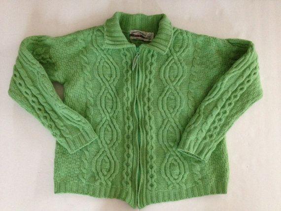 If going quirky: Irish Fisherman Sweater Vintage Zip Cardigan / by VintageByBeth