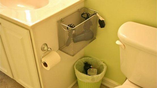 Repurpose a Mesh File Box Into a Hair Appliance Holder