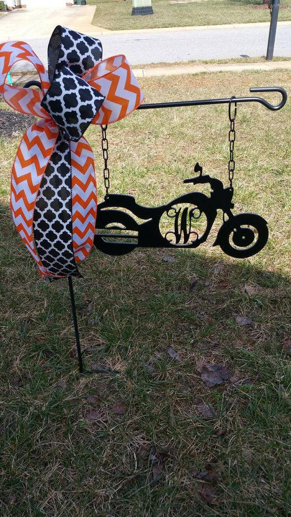 Single or Triple Initial Harley Davidson by SecondNatureDesigns1