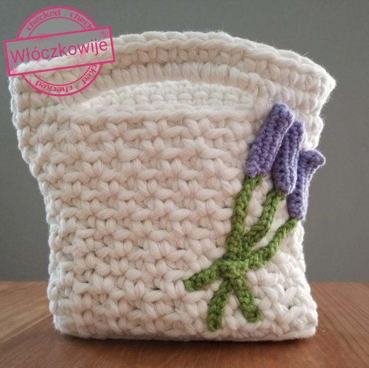 Crochet bagażnika with lavender