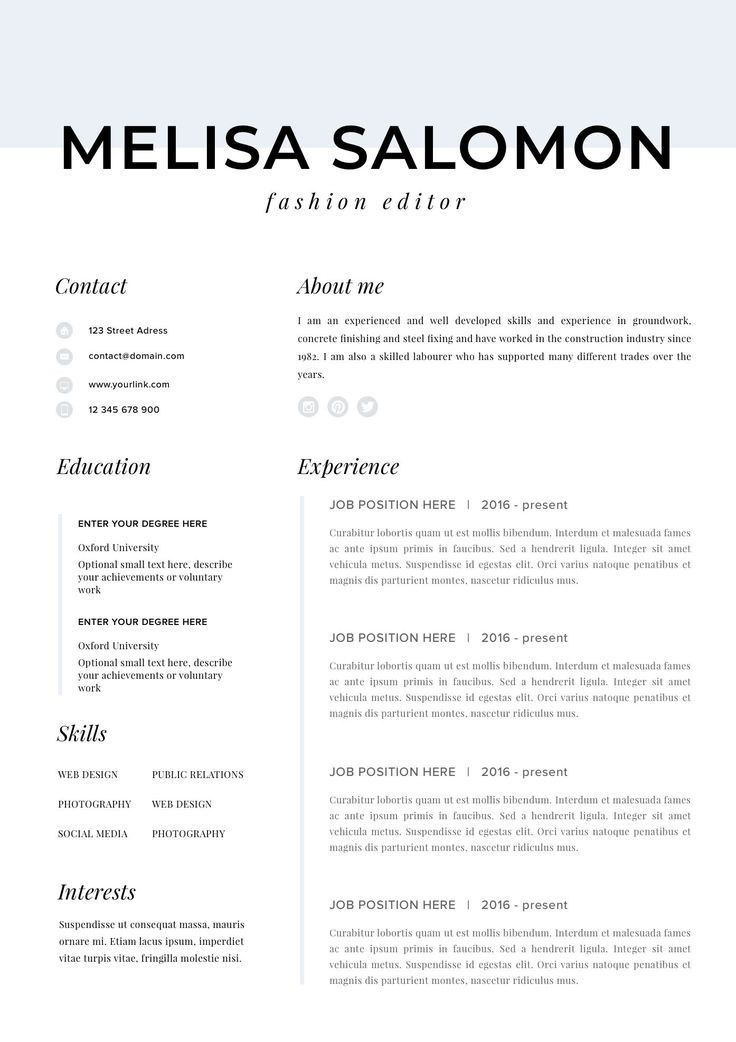 professional resume template for mac
