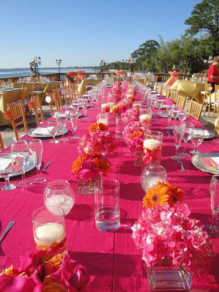 Pink and orange beach 15th Wedding Anniversary!