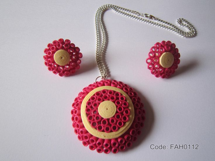 Handmade Jewelry - Paper Quilling Set  (FAH0112) (1) | by fah2305