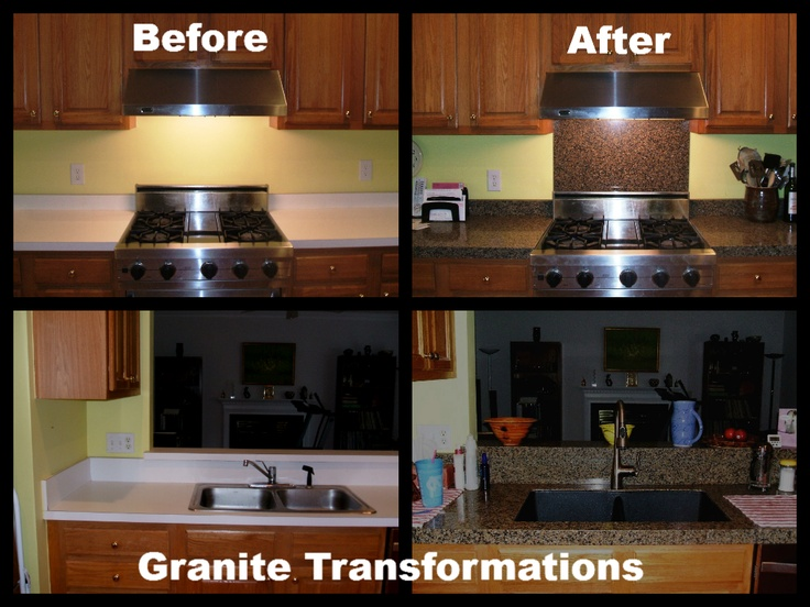 ... granite transformations after granite transformations kitchen before