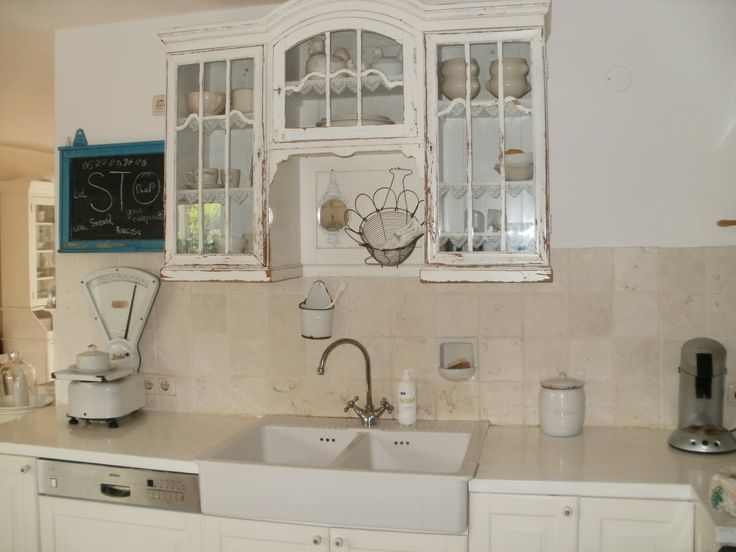 Brocante white. Cabinets!! :)
