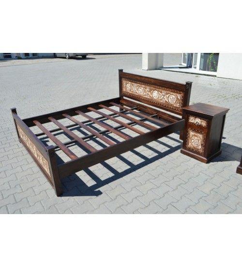 #Indyjskie #drewniane #łóżko @ http://www.indianmeble.pl/lozka/indyjskie-drewniane-lozko-HS-39-ORISA7 Bogato zdobione, trwałego drewna Sheesham (palisander) #meble