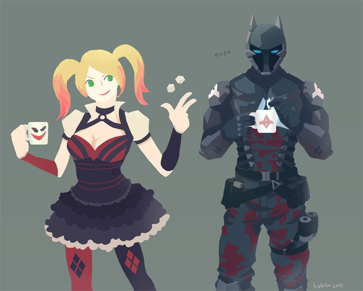 Harley quinn and Arkham knight ㅍvㅍ