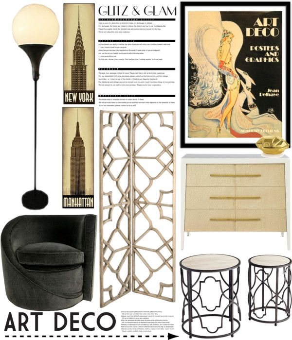 """Glitz & Glam: Art Deco #2"" by mrsjillc on Polyvore"