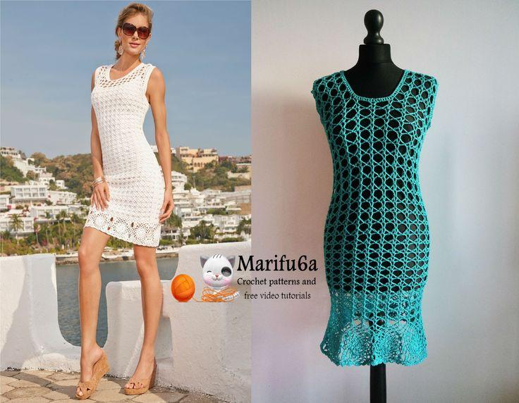 How to crochet summer dress tunic free tutorial pattern by marifu6a