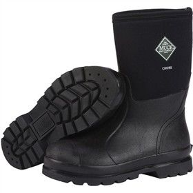Muck Boots Unisex Chore Mid Black  are waterproof boots which are designed for men and are flexible, durable with lightweight rubber outsole.