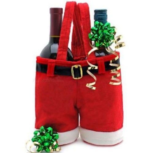 Fantástico padre Navidad Santas Pantalones Bolsa De Regalo Navidad Pequeño Saco Calcetín Relleno