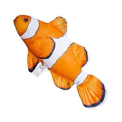 GP 175532 - Cuscino ornamentale a forma di Mini Pesce Pagliaccio - L. 32 cm