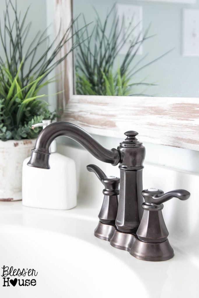 Upgrading a Bathroom Faucet with Moen | Bless'er House #sponsored
