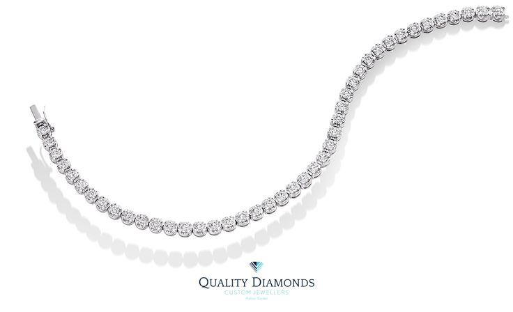 Inspired by the Italian word for Loyal, our classic Ettore bracelet is stunning with these Round brilliant cut Diamonds. #diamondbracelet #diamond #bracelet #beautiful