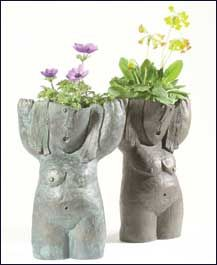 Lily Sawtell creates spectacular planters and sculptures