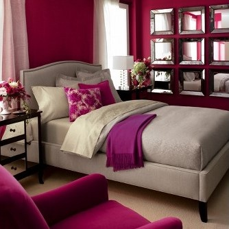 1000 ideas about fuschia bedroom on pinterest peacock blue bedroom wall frame set and living - Bedroom interior pink purple ...