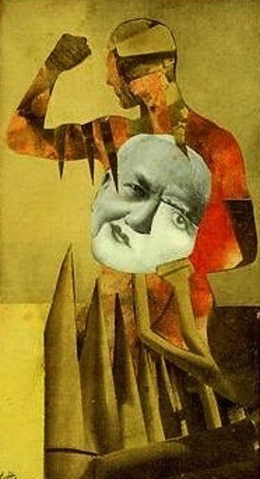 Hannah Hoch, Die Starken Manner (The Strong Men), 1931.