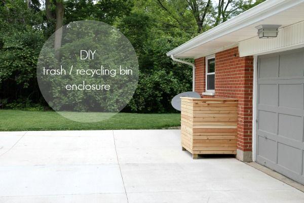 a simple diy waste bin enclosure house tweaking. Black Bedroom Furniture Sets. Home Design Ideas