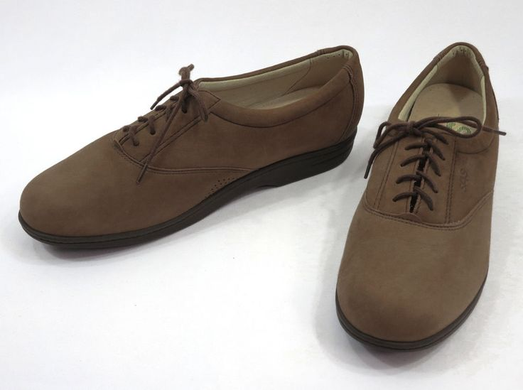 SAS Comfort Mary Jane Casual Work Brown Suede/Nubuck Leather Shoes Women Sz 8M