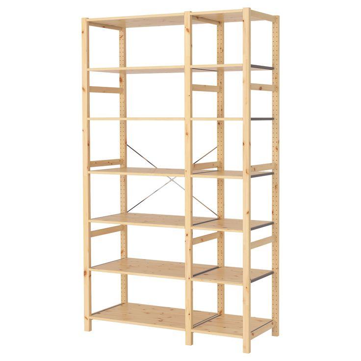 best 25 ikea ivar shelves ideas on pinterest picture. Black Bedroom Furniture Sets. Home Design Ideas