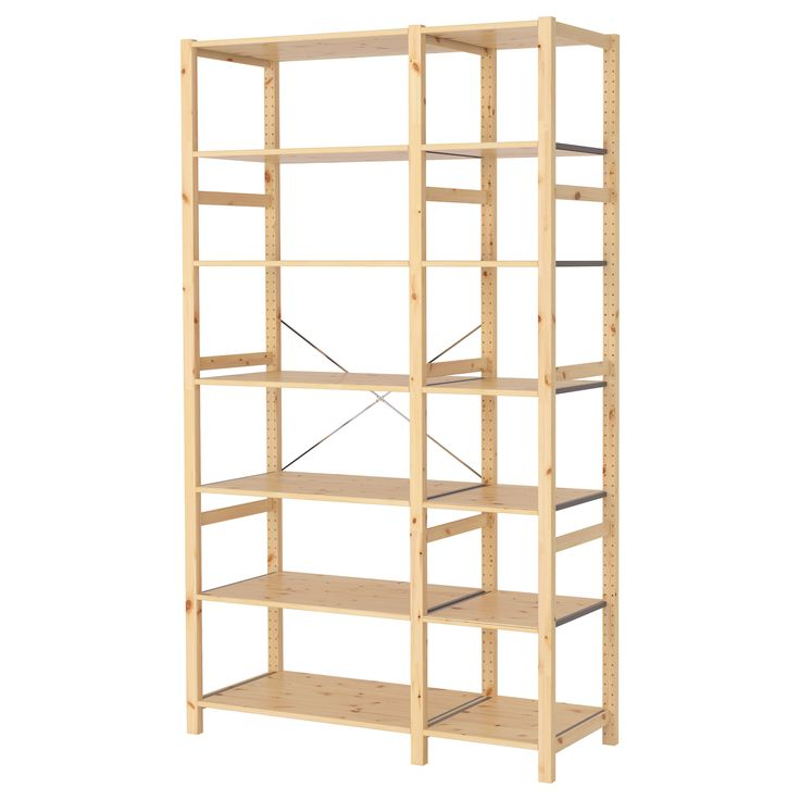 "IVAR 2 sections/shelves - IKEA 51 1/8 x 19 5/8 x 89"""