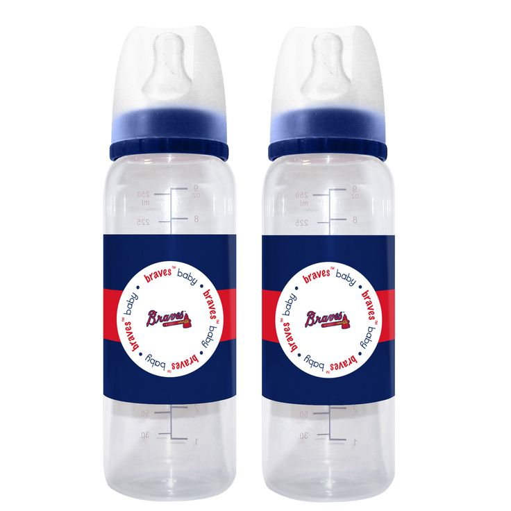 Baby Fanatic Atlanta Braves 2 Pack Baby Bottle